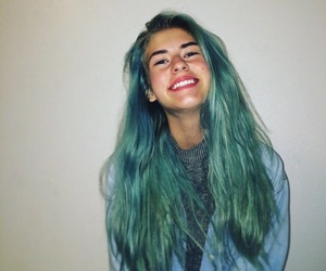 green, hair, and color image