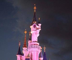 castle, disneylandparis, and chateau image