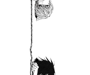 background, chain, and death note image
