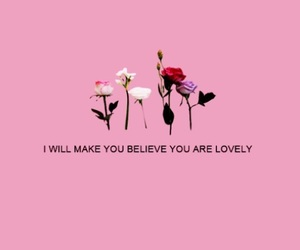 pink, quotes, and flowers image