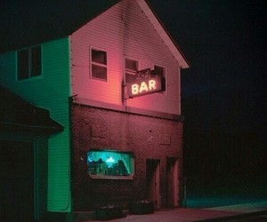 bar, Build, and neon image