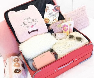 luggage, pretty, and organization image