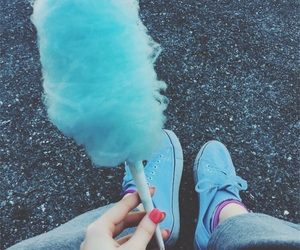 aesthetic, blue, and candy floss image