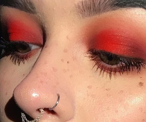 red, makeup, and aesthetic image