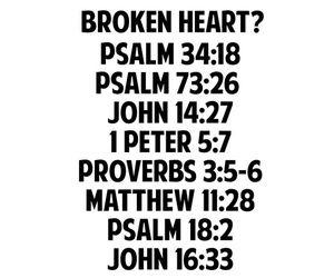 god, bible, and broken heart image
