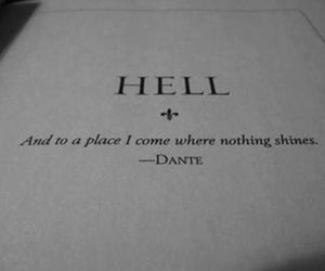 quotes, hell, and Dante image