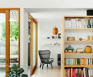 bookcases, home decor, and scandinavian style image