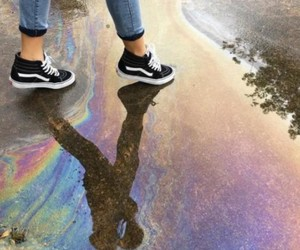 rainbow, vans, and tumblr image