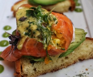 avocado, dill, and brunch image