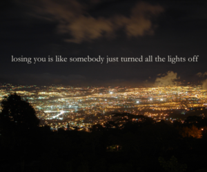 light, quote, and city image