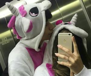 couple, unicorn, and goals image