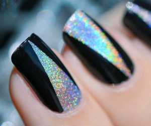 nail art, nails, and black image