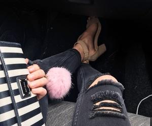 girl, heels, and legs image