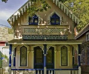 gingerbread, tiny house, and victorian house image
