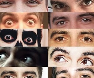 brendon urie, eyes, and P!ATD image