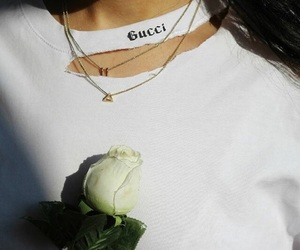 gucci, rose, and white image