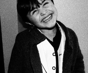 b&w, boy, and smile image