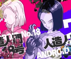 androids, dragon ball, and dbz image