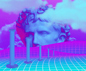 vaporwave, aesthetic, and art image