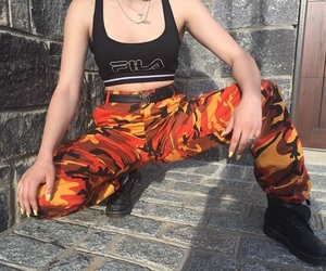 camo, fashion, and Fila image