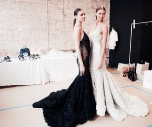 fashion, dress, and models image