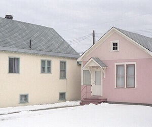 pale, pink, and house image