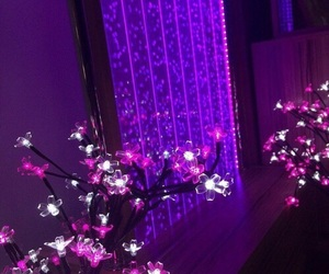 flowers, neon, and purple image