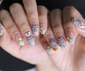 nails, cat, and cute image