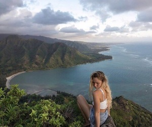 girl, nature, and ocean image