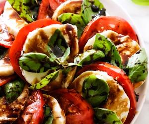 salad, food, and tomato image