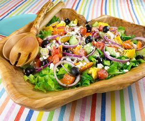 olives, greek salad, and salads image