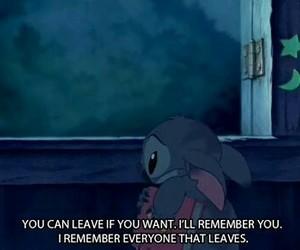 sad, stitch, and quotes image