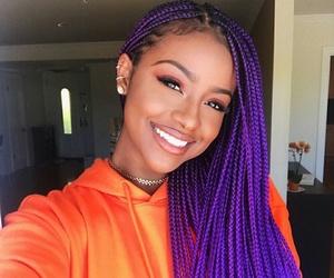 braid, purple, and melanin image