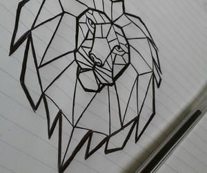 art, draw, and lion image