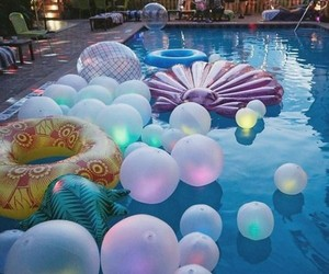 pool, summer, and party image