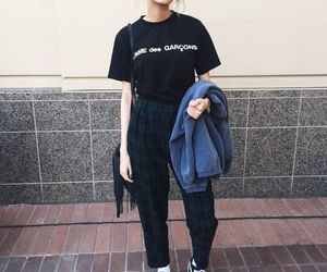 style, blonde, and outfit image