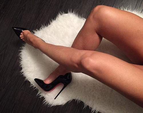black, shoes, and christian louboutin image
