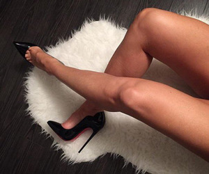 black, christian louboutin, and shoes image