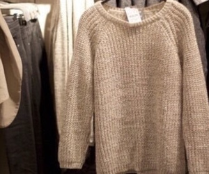 brown, sweater, and beige image