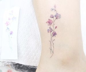 tattoo, flowers, and girly image