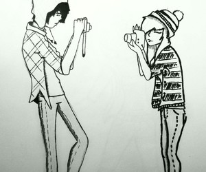 emo, girl and boy, and very cute image