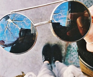 sunglasses, indie, and vintage image