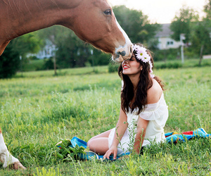 awesome, girl, and horse image