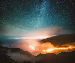 landscape, stars, and niebo image