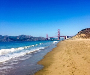 california, wanderlust, and goldengatebridge image