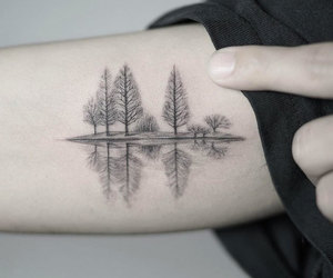 tattoo, nature, and tree image