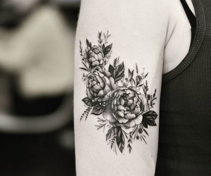 body art, flower, and tattoo image
