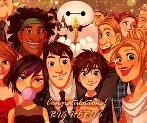 big hero 6, oscar, and disney image