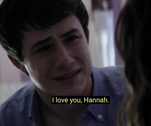 sad, hannah baker, and clay jensen image