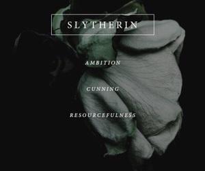 harry potter, slytherin, and hogwarts image